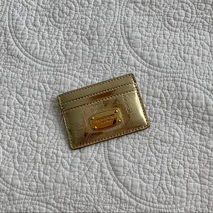 Michael Kors Shiny Gold Card Holder